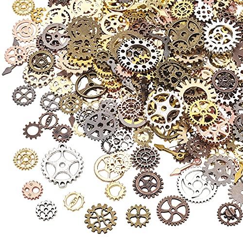 OLYCRAFT 400 piezas de relleno de resina antigua Steampunk Engranajes encantos de...