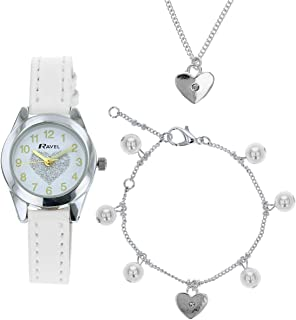 Ravel Children's 'Little Gems' Watch and Silver Plated Jewellery Set