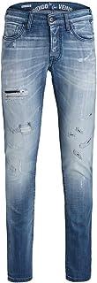 Jack & Jones, JJIGLENN JJROCK - Pantalones vaqueros para hombre, corte ajustado, color azul