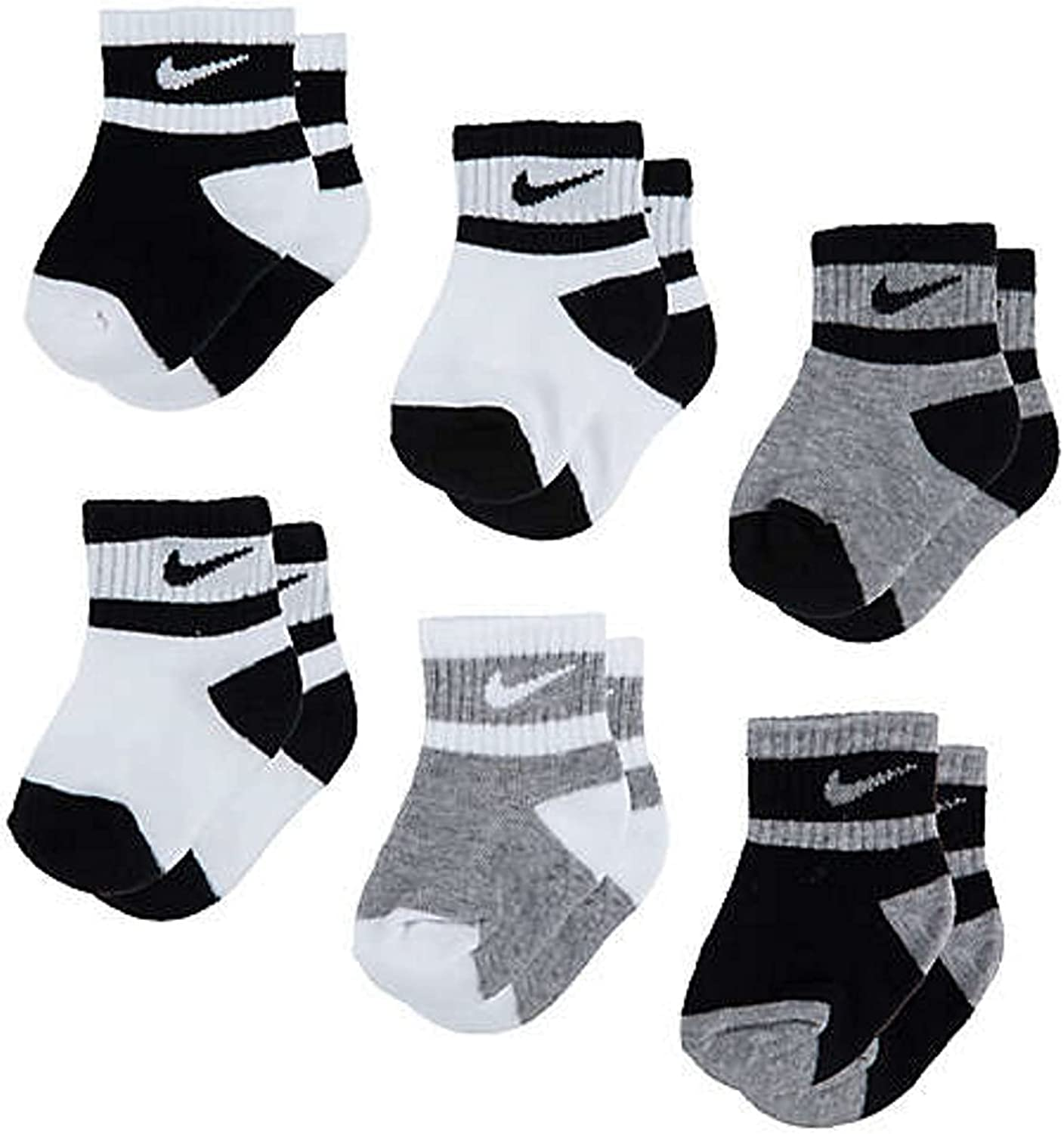 Nike Toddler 6 Pairs Lightweight Ankle Socks Size 2-4 Years