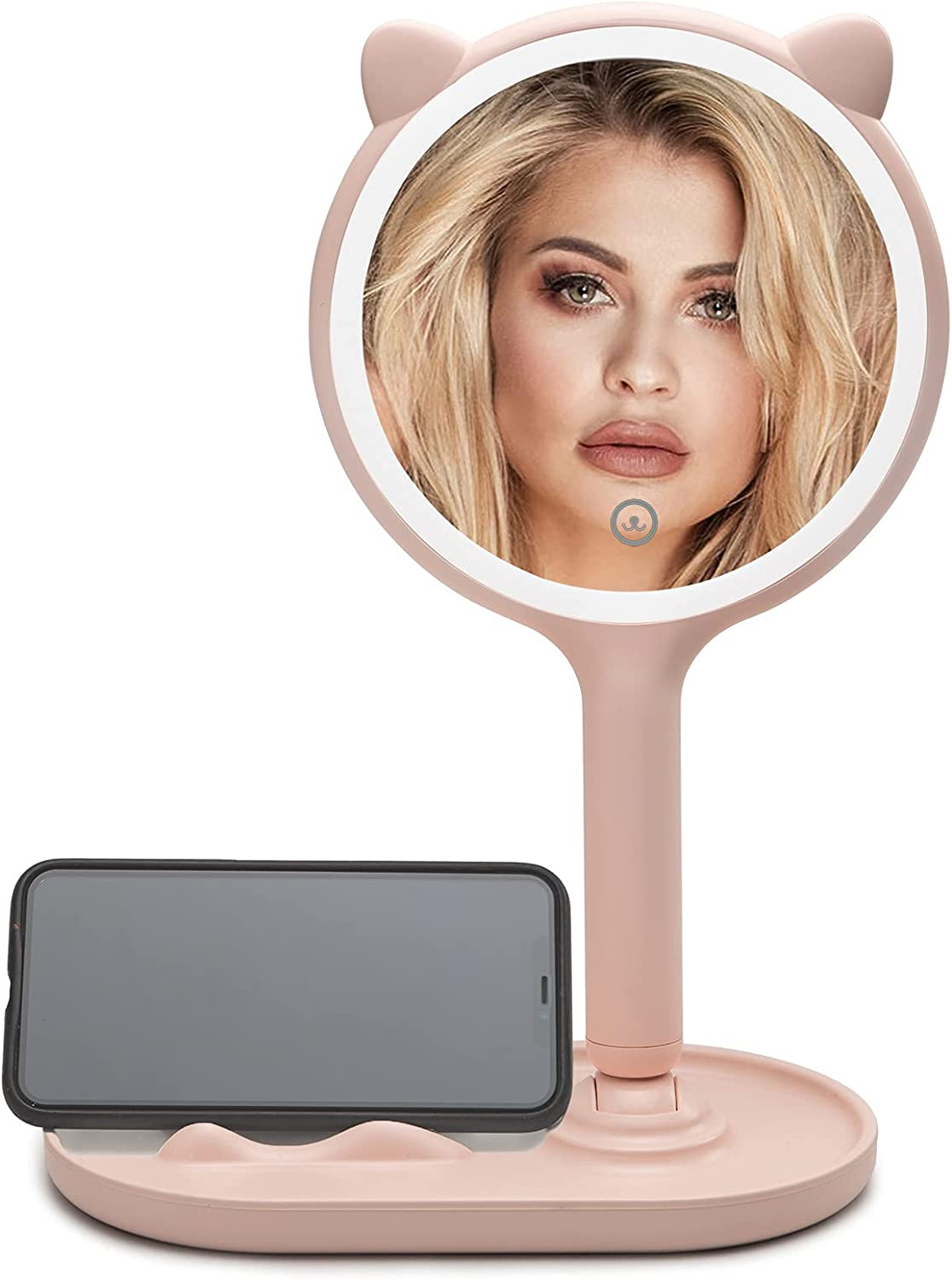 Makeup Desk Mirror with LED Small Regular discount 5X Lights Discount mail order Magnifying SGUTEN