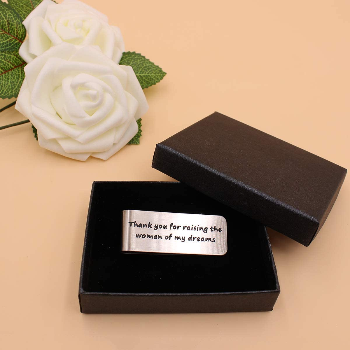 Money Clip, Thank you for raising the women of my dreams,Wedding Gift ,Dad Wedding gift from The Groom,Idea Gifts Present for Man Dad Father Father of The Bride