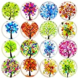 ALIGLE 16pcs Beautiful Glass Refrigerator Magnets Fridge Stickers Funny for Office Cabinets Whiteboards Tree...