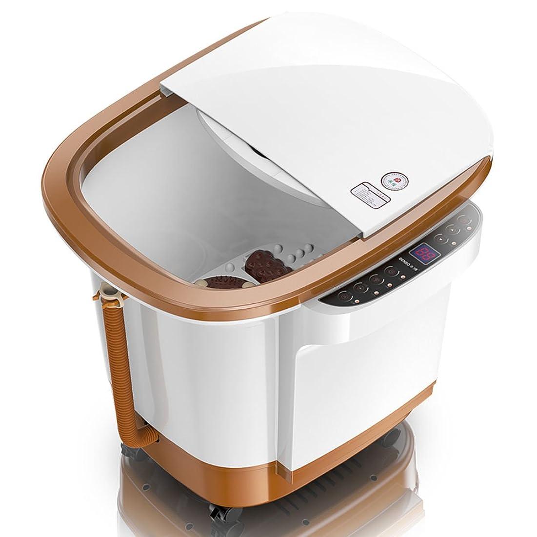 通り分析的な自信があるZHANGRONG- 足浴槽 自動ラッシュ ウェーブマッサージフットバス 電気の 暖房足湯 ディープバレルマシン フットバス 一定温度