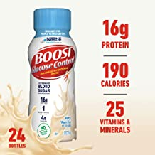 Boost Glucose Control Nutritional Drink, Vanilla Delight, 8 fl oz Bottle, Pack of 24 (Packaging May Vary)