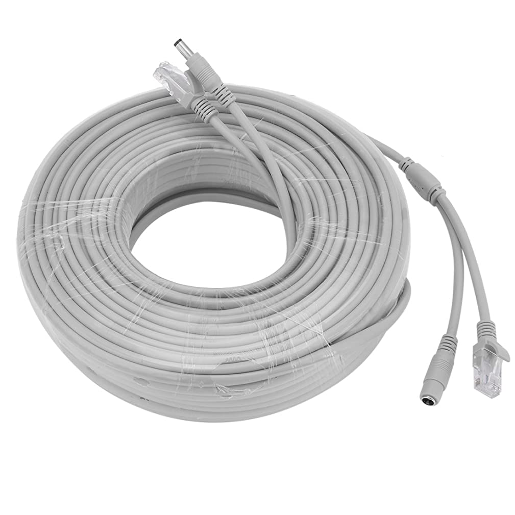 Aexit 40M/131ft Cat5e Electronic security Network Ethernet LAN/Power Extension Cable for CCTV IP Camera