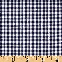 Robert Kaufman Kaufman 1/8'' Carolina Gingham Fabric, Navy, Fabric By The Yard