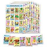 Loteria Fiesta Bingo Game Set in Spanish, Mexican Fiesta Loteria for 20 Players - 20 Boards and Full Deck of Cards