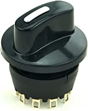 Electronics-Salon 1PCS SP3T 8A/250V 1 Pole 3 Way Rotary Switch, with Knob.