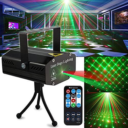 パーティーライトDJ Disco Lights TONGKステージ照明プロジェクターサウンドパーティー用リモコン付きフラ...