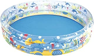 WGNHM Inflatable Swimming Pool, Fence Colorful Wave Pool Indoor Household Inflatable Children Toys Independent Layered Airbag Height Adjustable