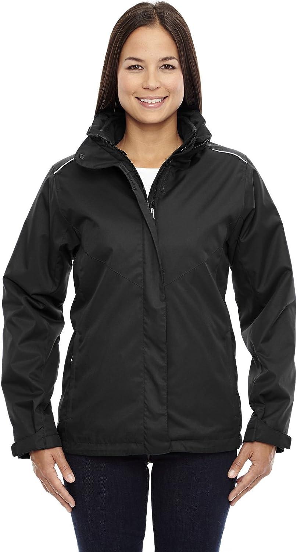 Core 365 Ladies Region 3-in-1 Jacket with Fleece Liner, BLACK 703