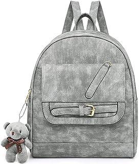 Solid Color Retro Women's Backpack Travel School Shoulder Bag Daypack (Color : Green)