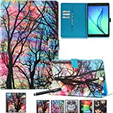 NewShine Galaxy Tab A 9.7 Case Cover Colorful PU Leather Magnetic Closure Stand Cover with Card Holder for Samsung Galaxy Tab A 9.7 inch Tablet Model SM-T550, Sunset Glow