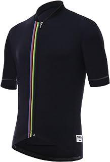 Santini 男式 UCI 彩虹设计短袖运动衫
