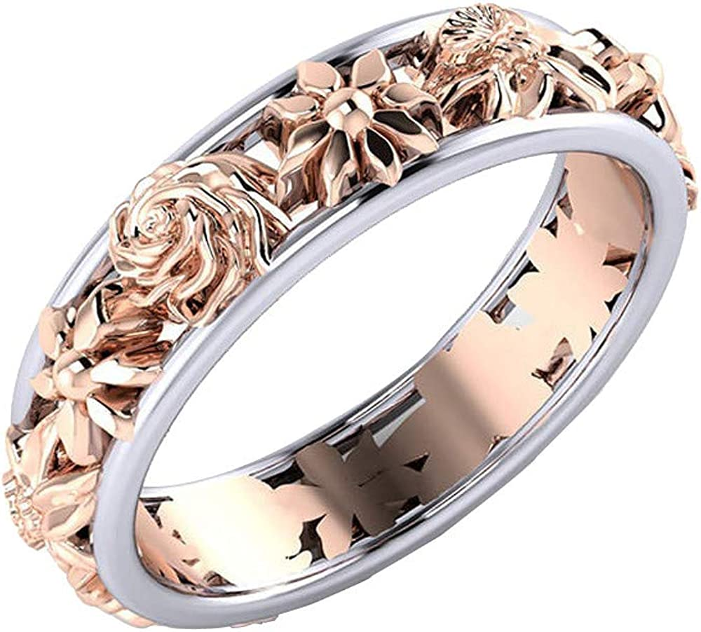 Nmch Creative Flowers Double Color Valentine Dainty J Rings Gift Free shipping Ranking TOP4 New