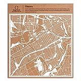 Ottawa Scherenschnitt Karte, Weiß 30x30 cm Papierkunst