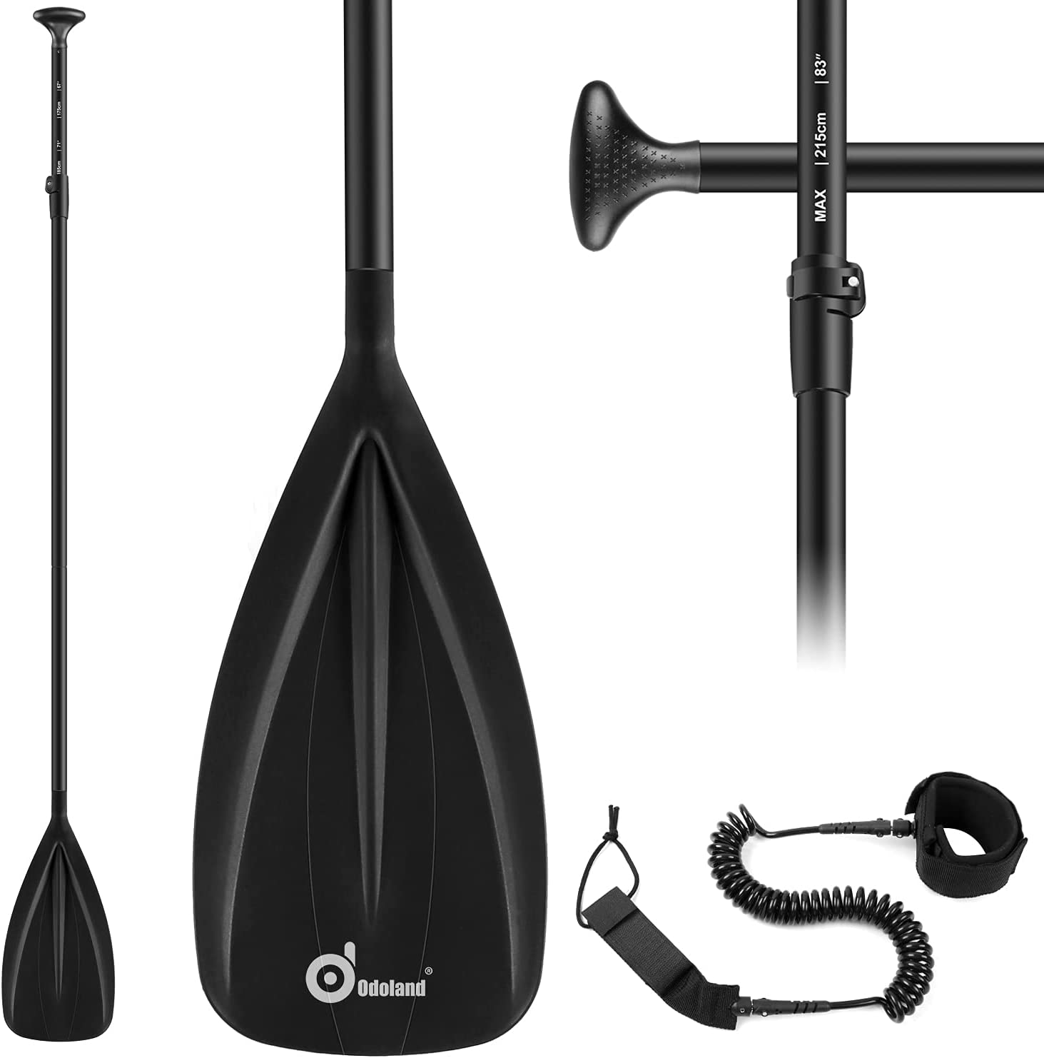 Odoland Alloy Max 50% OFF Elegant SUP Paddle 3 Pieces Up Stand Adjustable Bo