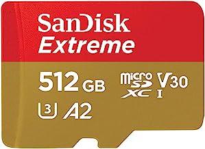 SanDisk ( サンディスク ) 512GB microSDXCカード EXTREME ( 最大 読込160MB/s 書込90MB/s ) SDアダプター付 SDSQXA1-512G-GN6MA [ 海外パッケージ ]