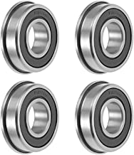 uxcell FR8-2RS Flange Ball Bearing 1/2 inches x 1-1/8 inches x 5/16 inches Shielded Chrome Bearings 4pcs