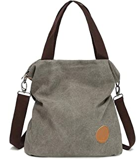 Women's Handbag, Large Casual Canvas Bag and Shoulder Bag in Colorful Canvas, Suitable for Shopping and Travel, Big Sale SYLOZ