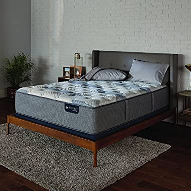 Serta Icomfort 500820782-1060 Hybrid 13  Blue Fusion 200 Plush Conventional Bed Mattress, King, Gray