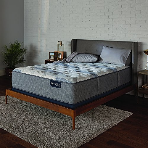 Serta Icomfort Hybrid 13' Blue Fusion 200 Plush Conventional Bed Mattress, King, Gray