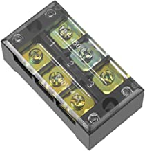 uxcell Dual Rows 3 Positions 600V 45A Wire Barrier Block Terminal Strip TB-4503L