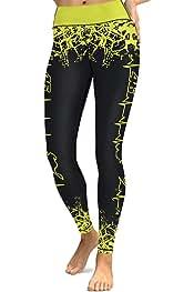 56c09b1e70d3 COCOLEGGINGS Womens Skinny Stretchy Yoga Pants Active Workout Leggings  Tights
