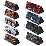 Triangle Foldable Glasses Case dibujos animados Animal Eyeglasses Sunglasses Storage Box 5
