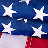 American Flag 2.5x4 Outdoor - Nylon US Flags with Embroidered Stars, Stitched Stripes and Brass...