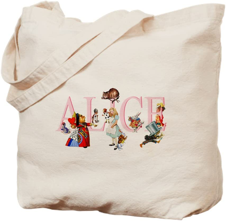 CafePress ALICE AND FRIENDS Tote Bag Natural Canvas Tote Bag, Reusable Shopping Bag