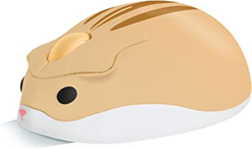 elec Space 2.4G Wireless Mouse, Cute Animal Hamster Shape Silent Mouse, 1200DPI Portable Mobile Optical Mouse with USB Rec...