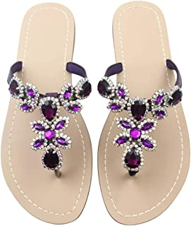 Available in 13 Colors,Rhinestone Sandals,Women's Flat Sandals,Flip Flop,Jeweled Sandals
