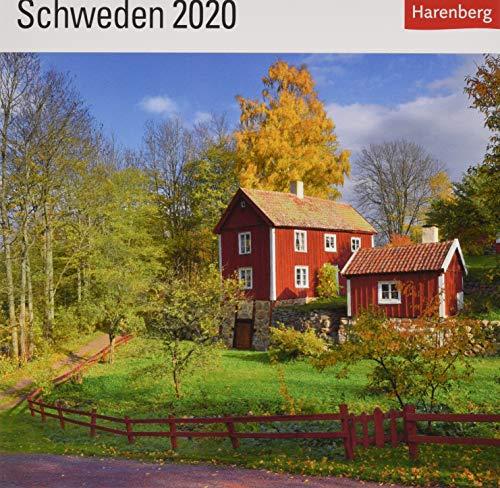 Schweden Postkartenkalender 2020. Wochenkalendarium. Blockkalender. Format 16 x 17,5 cm
