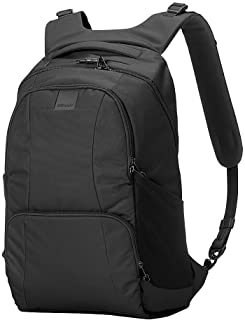 """Pacsafe Metrosafe LS450 25 Liter Anti Theft Laptop Backpack - with Padded 15"""" Laptop Sleeve, Adjustable Shoulder Straps, Patented Security Technology"""