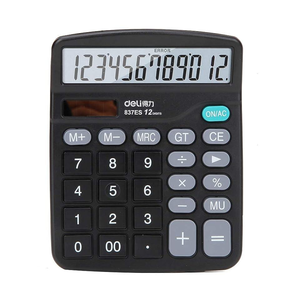 要件イデオロギー自治電卓 12ビットディスプレイ 多機能 デュアル電源 - オフィス ビジネス スーパービジネス レジア 学生の必需品