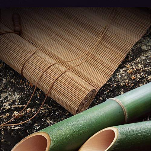 Mnjin Modedekoration Orientalisches Bambus-ähnliches natürliches Fenster Rollo, Bambus Sonnenschirm Vorhang Balkon Dekoration für Schlafzimmer Küche drinnen und draußen, anpassbar (70x120cm / 28x4