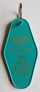 The Grand Budapest Hotel Room # 142 Republic of Zubrowka GBH Inspired Key Tag Teal/Gold