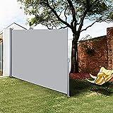 DJLOOKK Cobertizo telescópico, toldo Lateral retráctil, toldo de Aislamiento del Parabrisas, Valla divisoria de Pantalla de privacidad para Todo Clima para Patio, jardín, Piscina, terraza,160x300cm