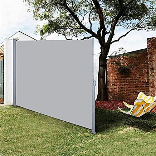 DJLOOKK Teleskop-Zugschuppen, einziehbare Seitenmarkise, Windschutzscheiben-Isolierdach, Allwetter-Sichtschutz-Trennzaun für Terrasse, Garten, Pool, Terrasse,160x300cm