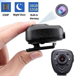Mini cámara de acción inalámbrica con Clip Full HD 1080P cámara portátil para Deporte equitación visión Nocturna infrarroja 16 GB 32 GB Negro 5.00V