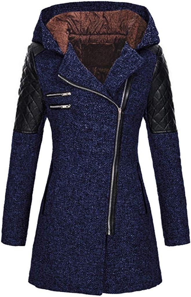 Hengshikeji-Women Coats Womens Double Breasted Button Wool Jacket Flared Hem
