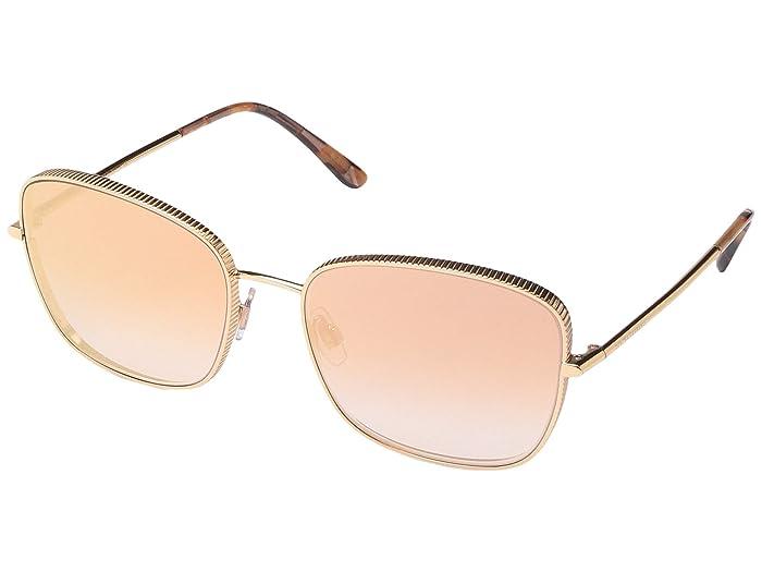 Dolce & Gabbana DG2223 (Rose Gold/Gradient Pink Mirror) Fashion Sunglasses