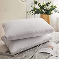 Set of 2 Decroom Natural Goose Duck Down Feather Pillows