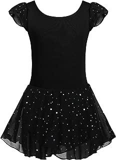 Zaclotre Girls Ruffle Sleeve Tutu Skirted Leotard Glitter Ballet Dance Dress