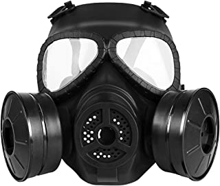 M04 Airsoft Tactical Protective Mask, Full Face Eye Protection Skull Dummy Toxic Gas Mask with Adjustable Strap for BB Gun CS Cosplay Costume Halloween Masquerade(No Batteries)