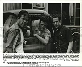 Historic Images - 1990 Press Photo Blake Gibbons, Michael St. Gerard Jesse Dabson Star in Elvis