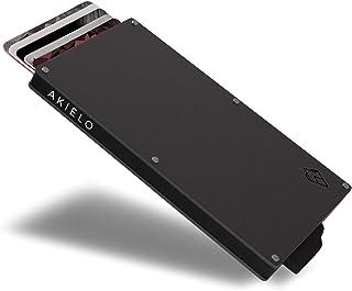 AKIELO Porta Carte di Credito con Blocco RFID in Confezione Regalo – Portafoglio Uomo Slim – Porta Tessere Uomo dal Design...