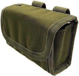 Mix Vogue Tactical Buttstock Shotgun Rifle Shell Holder Cheek Rest Pouch Rifle Buttstock with 10 Rifle Ammo Holder, Nylon Tactical Hunting Rifle Shotgun Buttstock Bag Accessories Belt Strap